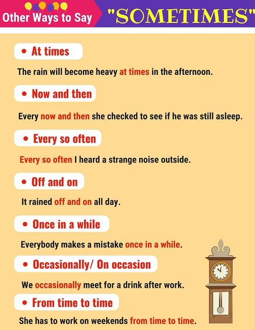 Những cách nói thay thế sometimes - Hình 1