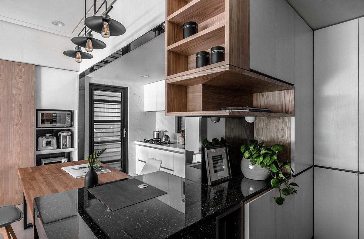 Căn hộ có nội thất bằng gỗ ấm áp và sang trọng - Hình 6