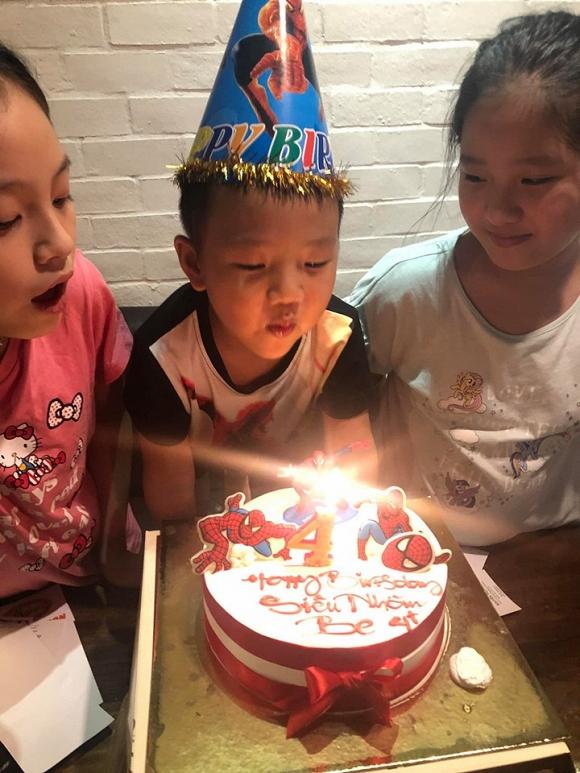 Chí Nhân tổ chức sinh nhật 4 tuổi cho con trai, vợ cũ Thu Quỳnh vắng mặt - Hình 9