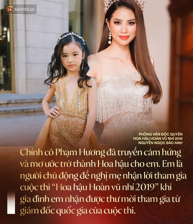 Hoa hậu Hoàn vũ nhí 2019 Bảo Anh sau đăng quang: Cô Phạm Hương đã truyền cảm hứng để đi thi từ năm 3 tuổi - Hình 2