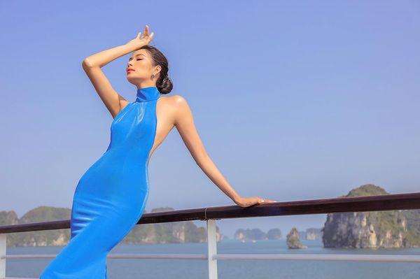Mặc váy hở khoe trọn rãnh lưng đẹp xuất sắc, Hoàng Thùy khiến fan loạn nhịp tim - Hình 8