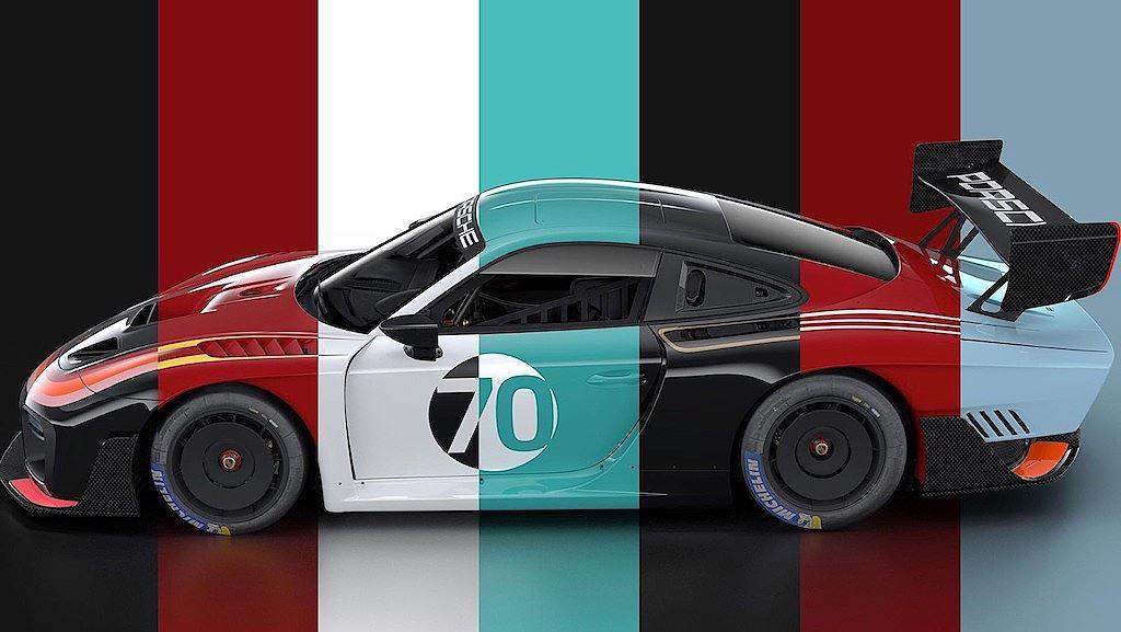 Porsche vinh danh lịch sử xe đua bằng tem đấu trên 935 Clubsport - Hình 1