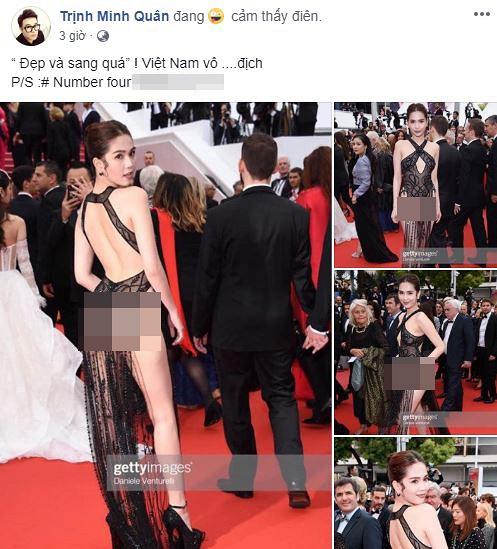 Dàn sao Việt gay gắt chỉ trích thời trang mặc như không gây xấu hổ của Ngọc Trinh trên thảm đỏ Cannes - Hình 5