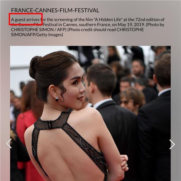 'Làm lố' trên thảm đỏ Cannes, Ngọc Trinh bị báo chí quốc tế gọi là 'người đẹp vô danh của Trung Quốc' - Hình 3