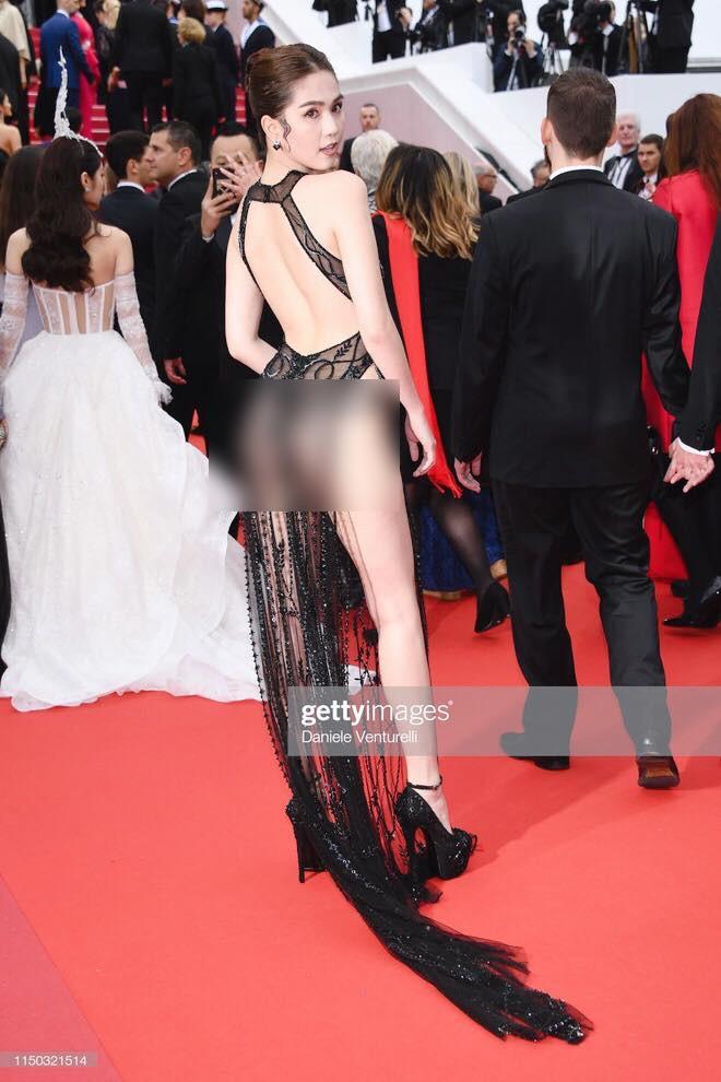 Ngọc Trinh lần đầu đi thảm đỏ Cannes đã gây sốc với trang phục hở bạo nhức mắt, khoe cơ thể quá đà - Hình 2