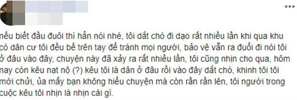 Thanh niên Việt kiều dắt chó đi dạo không rọ mõm lên tiếng: Khinh tôi, tôi mới chửi - Hình 3