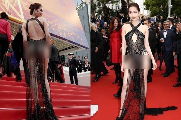 Báo Anh soi cận cảnh màn xuất hiện của Ngọc Trinh trên thảm đỏ Cannes, sốc hơn khi đọc bình luận từ dân mạng quốc tế - Hình 3