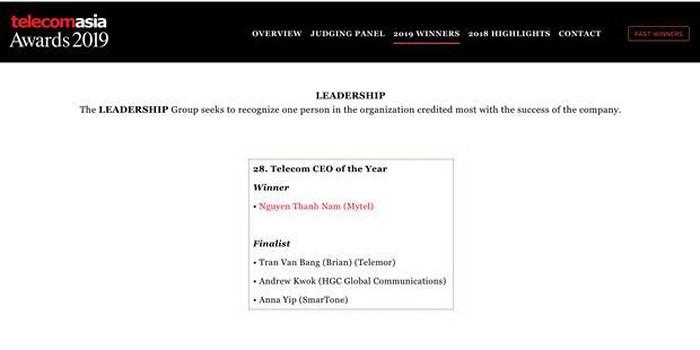 Viettel dành cú đúp tại giải thưởng Viễn thông châu Á - Hình 1