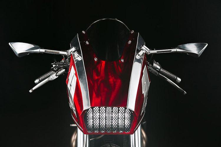 Triumph Thruxton 900 độ trông giống như một chiếc máy bay hầm hố - Hình 2