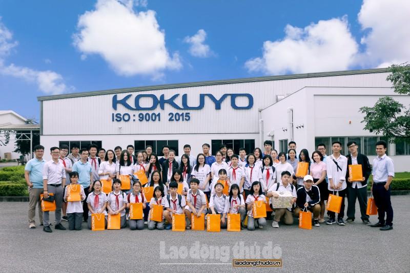 Học sinh Ban Mai trải nghiệm thực tế tại Nhà máy Kokuyo, Hải Phòng - Hình 1