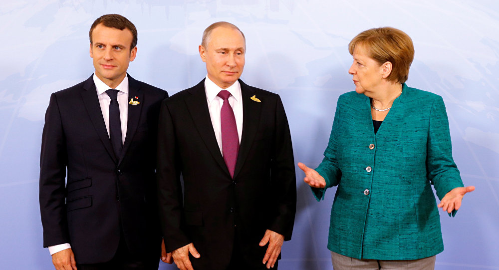 Putin, Macron và Merkel điện đàm nóng về Ukraine,Iran, Syria - Hình 1