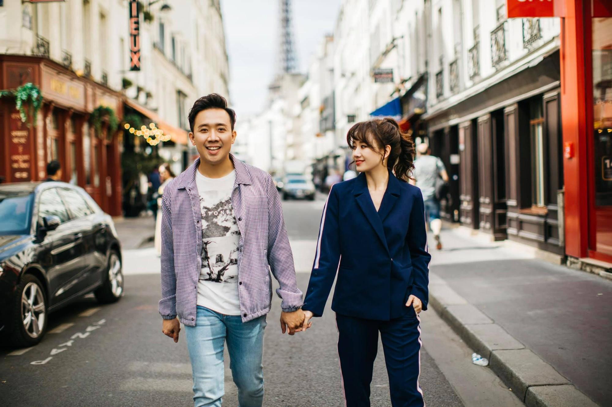 Ngắm trọn bộ ảnh đẹp như phim Hàn của Trấn Thành - Hari Won tại Paris hoa lệ - Hình 4