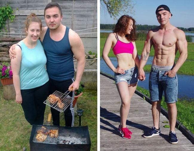 Những màn lột xác vịt hóa thiên nga của các cặp đôi chứng minh chân lý đồng vợ đồng chồng béo đến mấy cũng giảm cân thành công - Hình 13