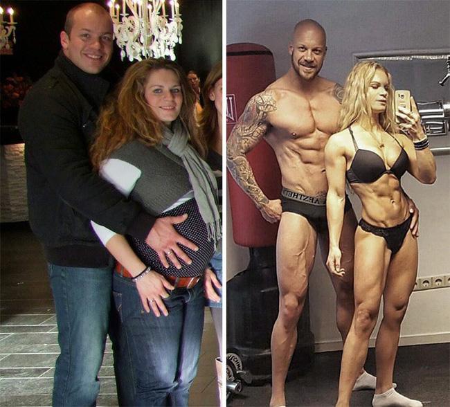 Những màn lột xác vịt hóa thiên nga của các cặp đôi chứng minh chân lý đồng vợ đồng chồng béo đến mấy cũng giảm cân thành công - Hình 17
