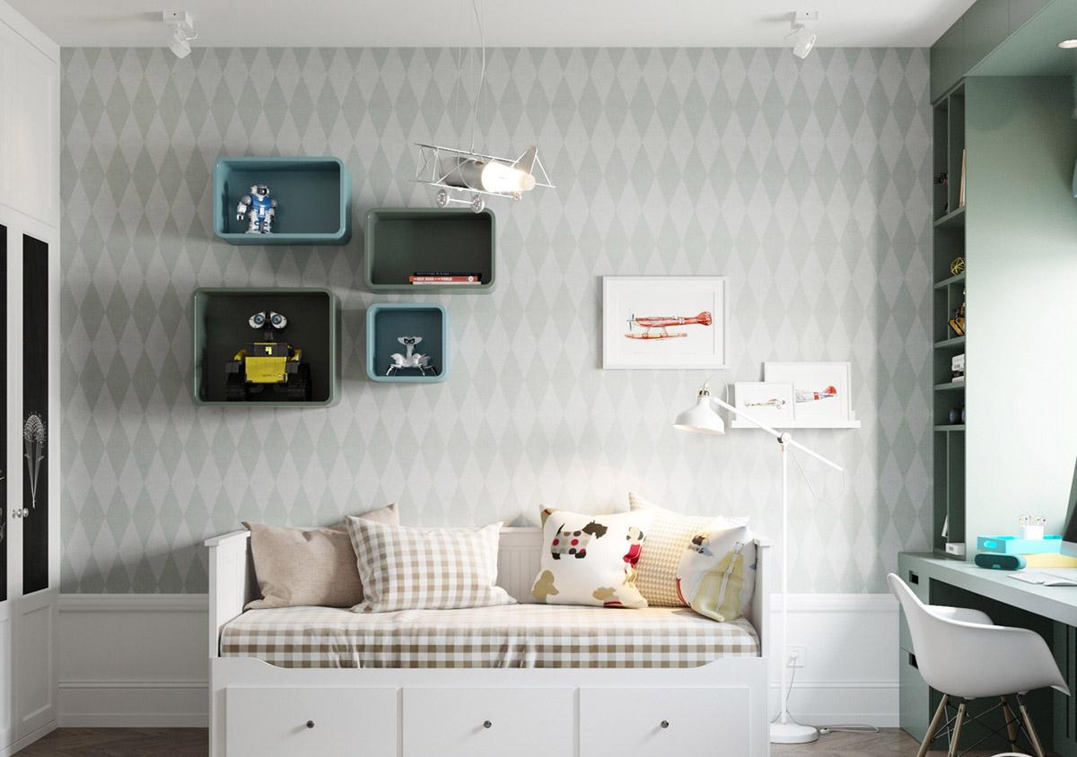 Căn hộ có 3 phòng ngủ rộng rãi nhờ cách sắp xếp nội thất - Hình 11