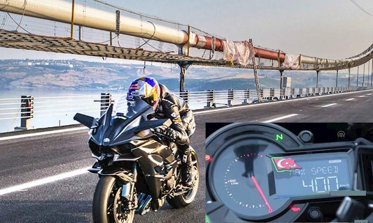 Kawasaki H2R đạt đến tốc độ 400 km/h trên đường công cộng - Hình 1