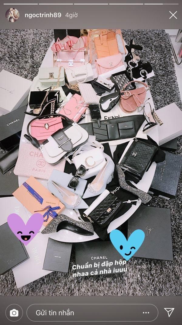 Giữa ồn ào váy áo trắc nết, Ngọc Trinh vẫn điềm nhiên sắm sửa 20 chiếc túi hiệu tại Cannes - Hình 3