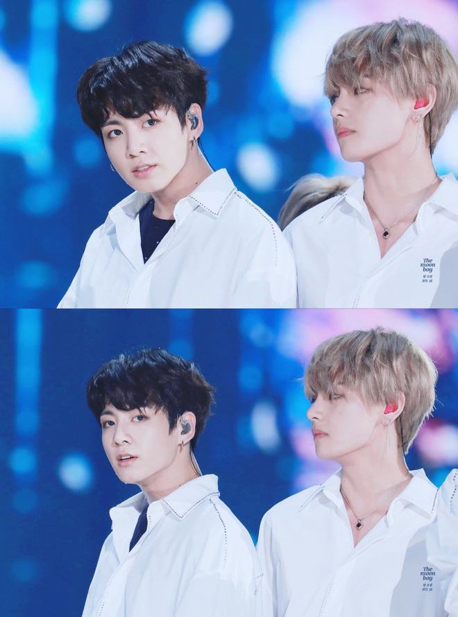 Phát sốt vì cặp bromance hot nhất Kpop: V lén làm một điều cho Jungkook, ai ngờ sau 1 năm bị ghi lại hết trong clip - Hình 6