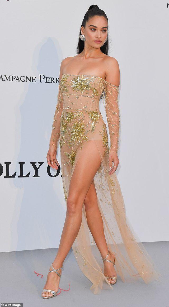 Siêu mẫu Úc Shanina Shaik diện váy hở bạo - Hình 6