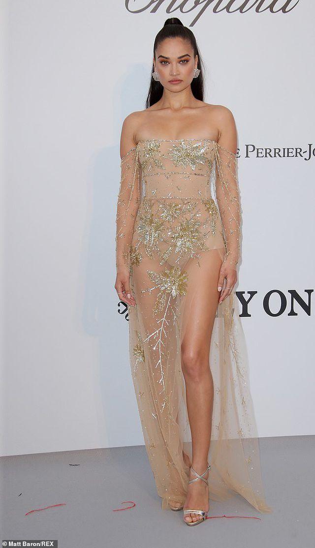 Siêu mẫu Úc Shanina Shaik diện váy hở bạo - Hình 2