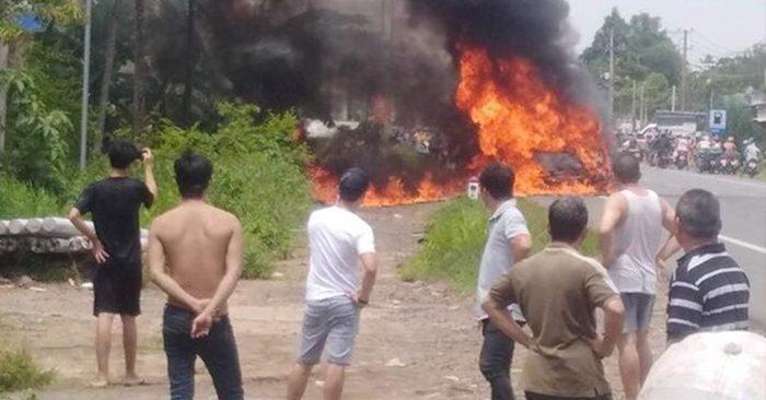 Tài xế kể lại vụ xe khách 16 chỗ bất ngờ bốc cháy khiến 3 bà cháu thương vong - Hình 2