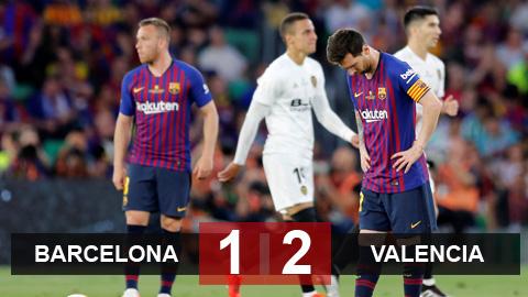 Barcelona 1-2 Valencia: Barca vỡ mộng cú đúp - Hình 1