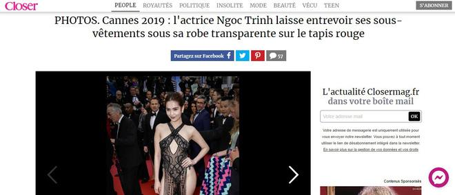 Truyền thông và netizen nước ngoài phản ứng gay gắt về Ngọc Trinh tại Cannes: Báo Anh, Pháp không gắt bằng xứ Trung - Hình 3