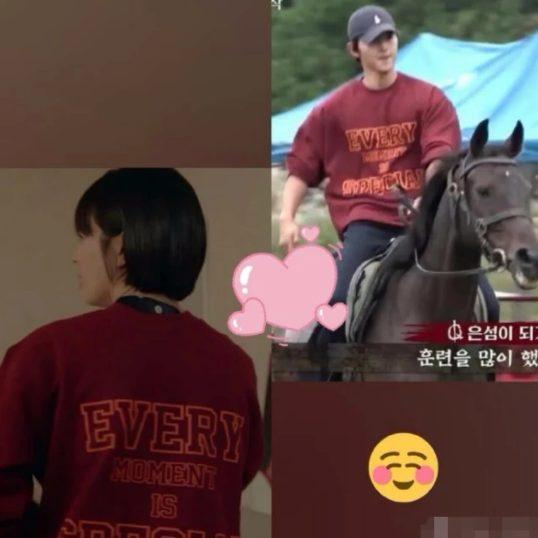 Song Joong Ki mặc áo của Song Hye Kyo đi quay phim với chú thích: Mỗi khoảnh khắc đều đặc biệt - Hình 4