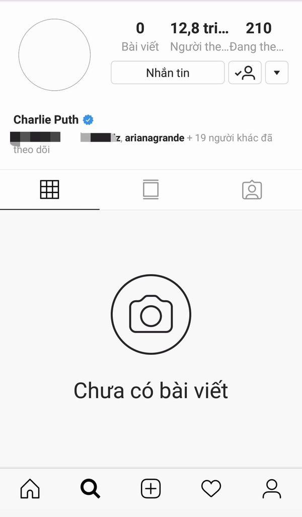 Tẩy trắng Instagram như Taylor Swift và Halsey trước thềm comeback: 2019 rồi, còn cách đánh động nào mặn hơn không Charlie Puth? - Hình 1