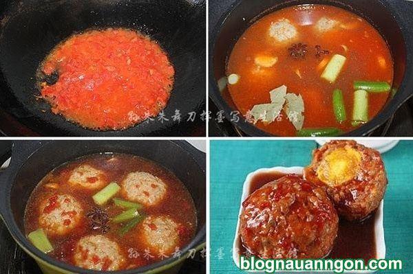 Bữa cơm hấp dẫn với món thịt viên trứng muối sốt cà chua đậm đà, ngon miệng! - Hình 5