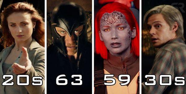 Các dị nhân đã bao nhiêu tuổi trong sự kiện X-Men: Dark Phoenix? - Hình 1