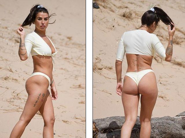Jenny Thompson gợi cảm với bikini trắng - Hình 3
