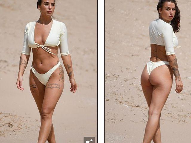 Jenny Thompson gợi cảm với bikini trắng - Hình 5