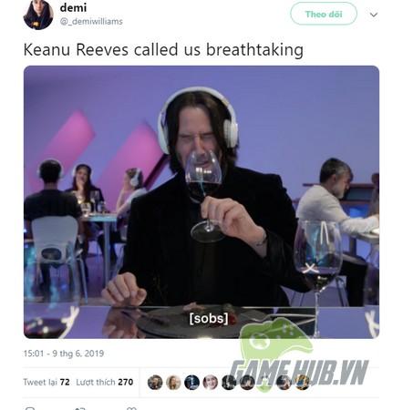 Quá phấn khích trước sự xuất hiện của Keanu Reeves, fan cuồng nhận ngay Cyberpunk 2077 miễn phí - Hình 3