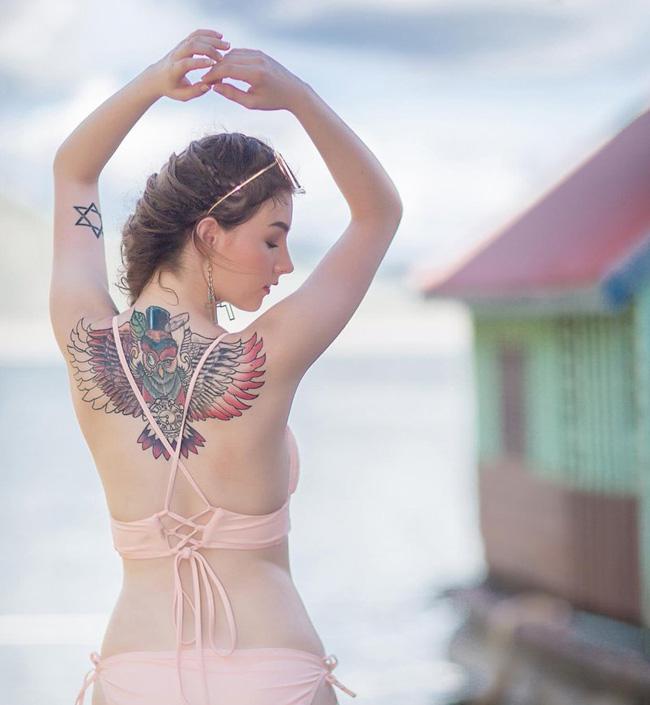 2 thánh nữ xăm mình Thái Lan, Brazil: Da trắng như bông bưởi vẫn để dính mực - Hình 13