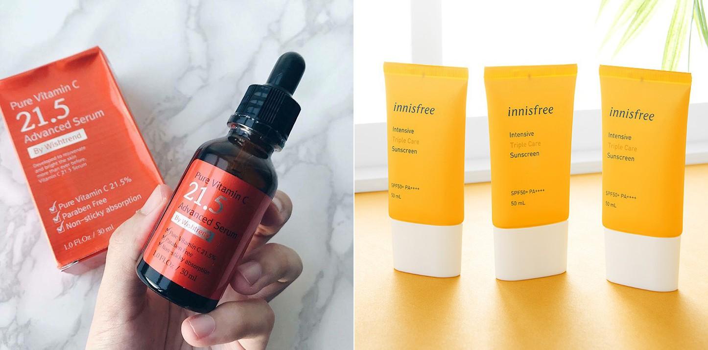 5 bộ đôi serum vitamin C và kem chống nắng bình dân mà bạn có thể dễ dàng tìm mua để có làn da đẹp thần thánh - Hình 1