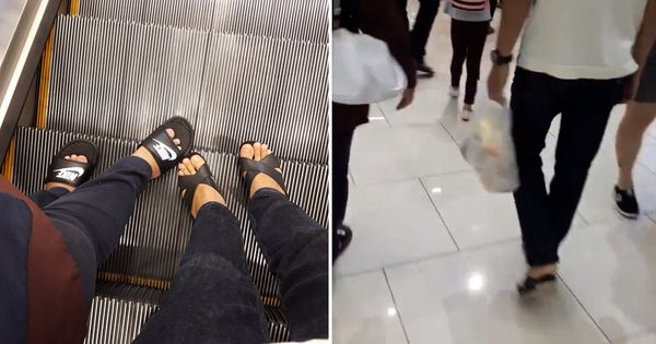 Chàng trai đi giày cao gót trong siêu thị gây tò mò nhưng biết lý do ai cũng cảm động - Hình 1