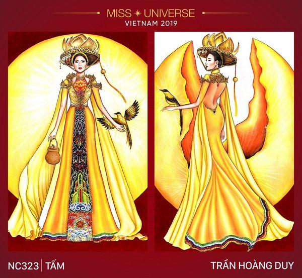 Chàng trai với thiết kế cô 'Tấm' Hoàng Thùy bước ra từ quả thị, đem giấc mơ chiến thắng tới Miss Universe 2019 - Hình 1