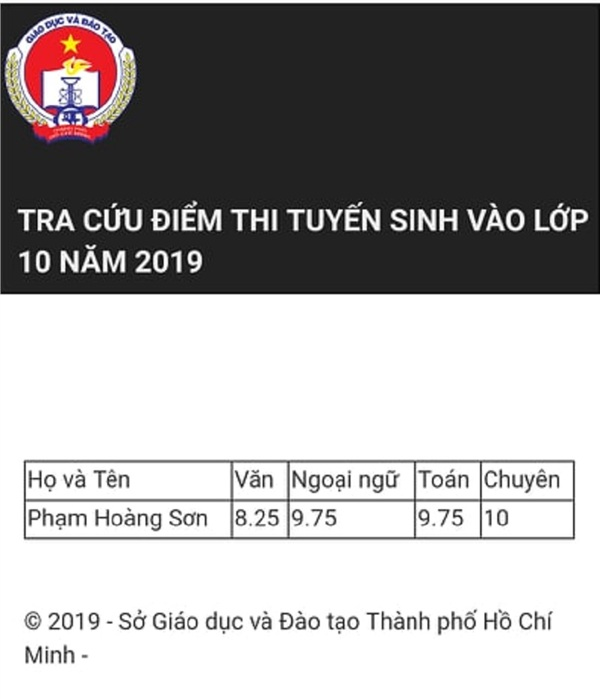 Lộ diện thí sinh có điểm cao nhất kỳ thi tuyển sinh lớp 10 TP.HCM: Tổng điểm 37.75, trong đó có điểm 10 môn Chuyên - Hình 1