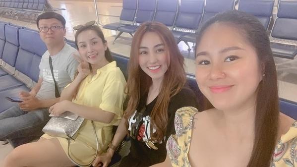 Ngân Khánh và chồng đại gia đưa Lê Phương đi du lịch trước ngày cô sinh con gái - Hình 1