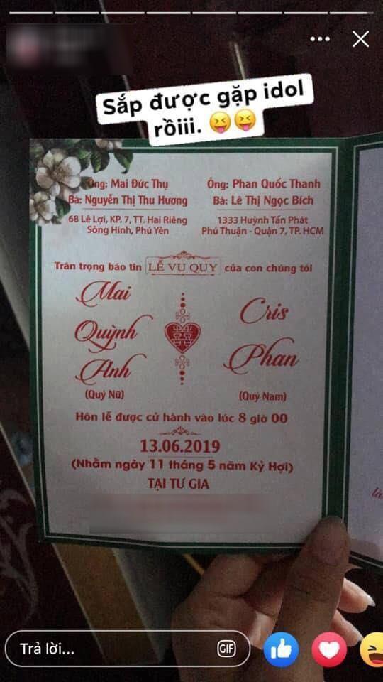 Thắc mắc bên lề đám cưới: Ủa chứ viết thiệp mời cũng xài nickname, rốt cuộc Cris Phan tên thật là gì vậy? - Hình 2