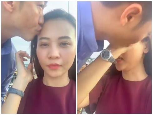 Cường Đô La cưỡng hôn Đàm Thu Trang ngay trên sóng livestream khiến ai xem cũng thích - Hình 1