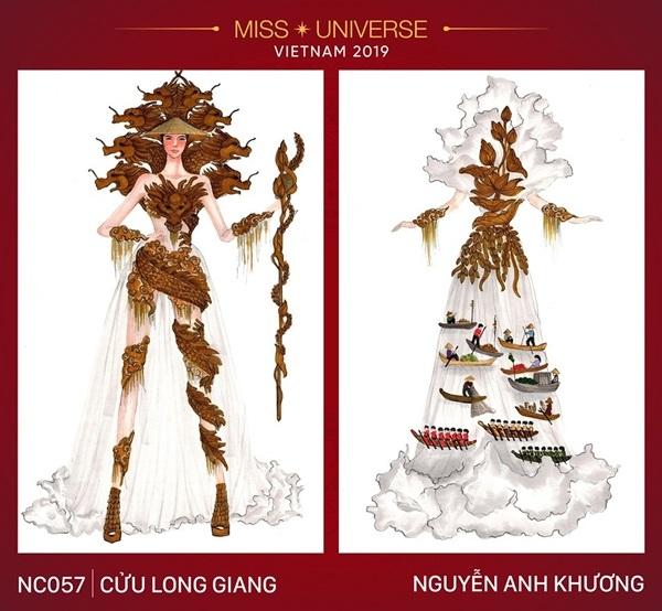 Dự đoán những thiết kế sẽ được chọn vào vòng trong cuộc thi trang phục dân tộc cho Hoàng Thùy - Hình 7