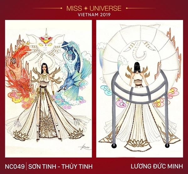 Dự đoán những thiết kế sẽ được chọn vào vòng trong cuộc thi trang phục dân tộc cho Hoàng Thùy - Hình 1