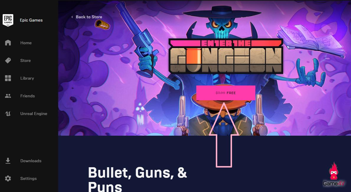 Hướng dẫn chi tiết nhận miễn phí tựa game Enter the Gungeon - Hình 4