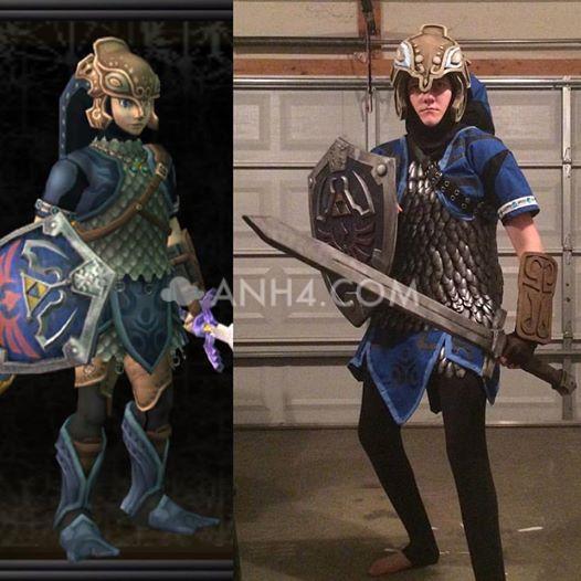 Link anh hùng của Hyrule đầy khí chất trong bộ giáp của mình - Hình 5