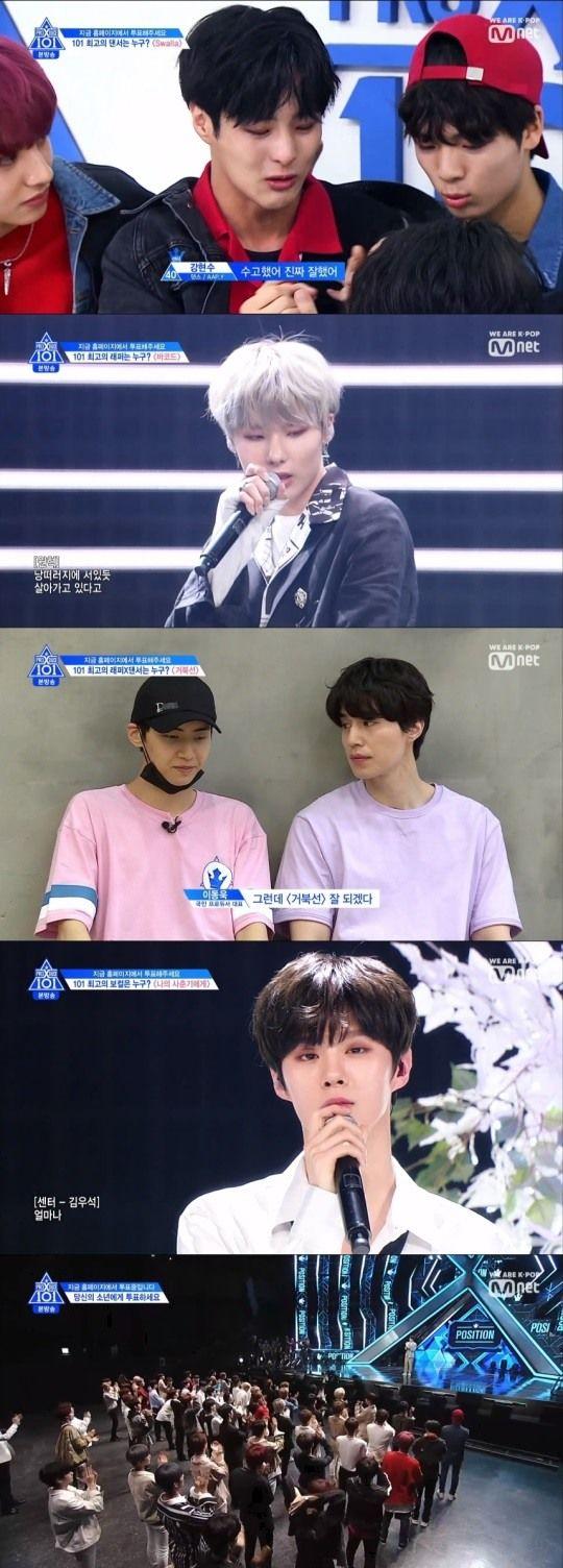 Produce X 101 tập 7: Kim Woo Seok - Lee Jin Hyuk (UP10TION) thắng lớn, đứng top tìm kiếm ở Hàn - Hình 1