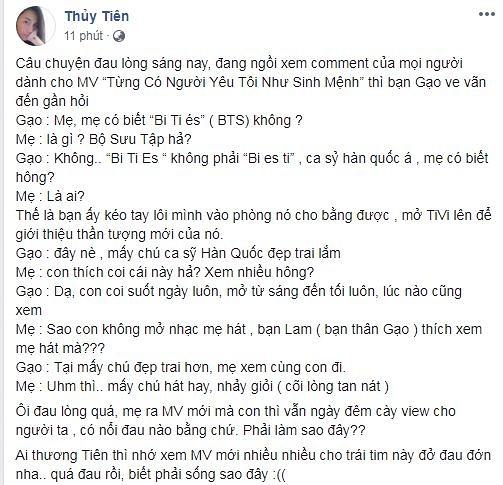 Thủy Tiên cõi lòng tan nát khi con gái không mê MV của mẹ bằng nhóm nhạc BTS - Hình 3