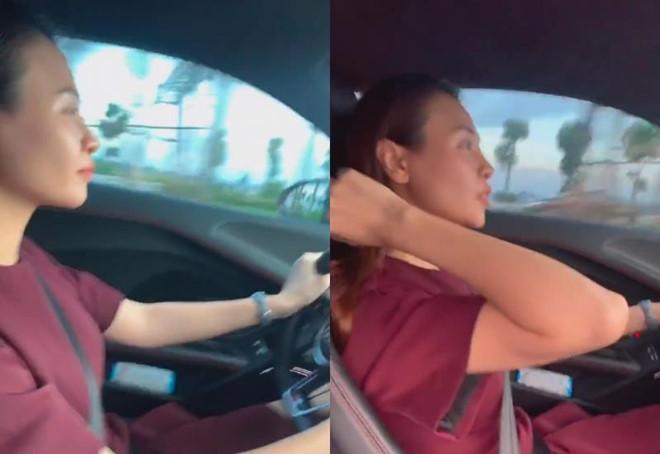Đàm Thu Trang lái siêu xe của Cường Đô La ở Car Passion 2019 - Hình 1