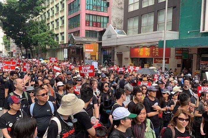 Hàng nghìn người Hong Kong tiếp tục biểu tình đòi bà Carrie Lam từ chức - Hình 1